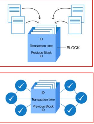 La blockchain è composta da blocchi concatenati: se manca la transazione precedente, la moneta virtuale è fasulla