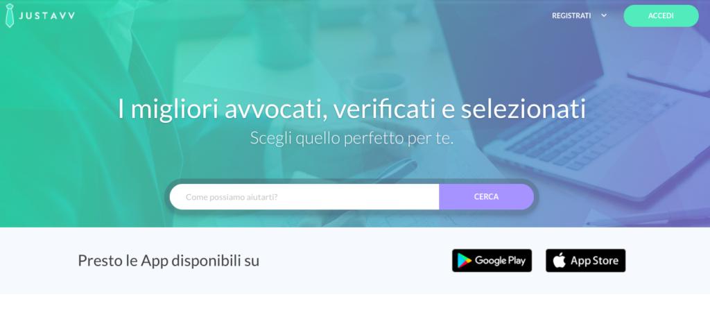 JustAvv.it: L'avvocato giusto per ogni consulenza legale. Presto via app