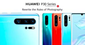 Huawei (sorvegliata speciale nella UE per il 5G) svela il Huawei P30 e P30 Pro, 4 fotocamere posteriori focus sullo zoom fino a 30x